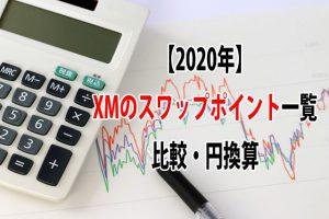 【2020年】XMのスワップポイント一覧|比較・円換算