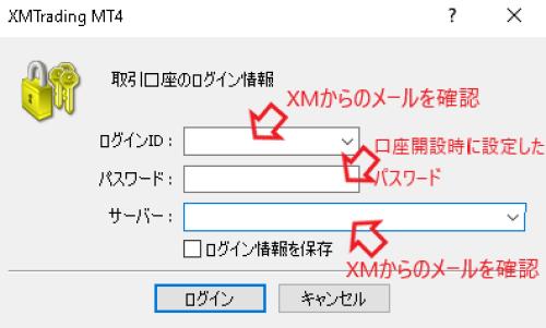 XM ログインできない